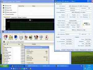 1543MHz-en CPU hőmérséklet