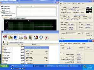 1670MHz-en CPU hőmérséklet