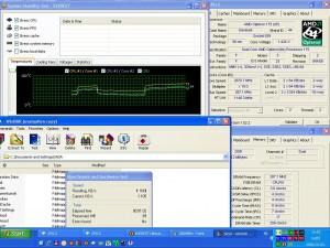 2870MHz-en CPU hőmérséklet