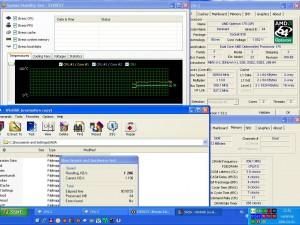 3090MHz-en CPU hőmérséklet