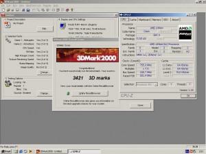 AMD Athlon SLOT-A 750MHz+Ati Rage Fury Maxx 3Dmark2000