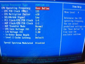 CPU Soft Menu III