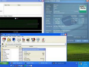 1052MHz-en CPU hőméséklet