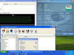 1085MHz-en CPU hőmérséklet