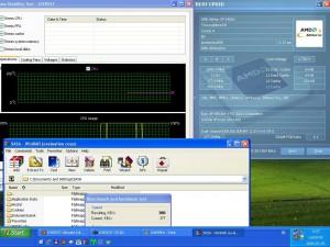 2045MHz-en CPU hőmérséklet