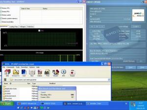 2230MHz-en CPU hőmérséklet