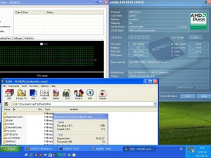 600MHz-en CPU hőmérséklet