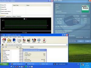 844MHz-en CPU hőmérséklet