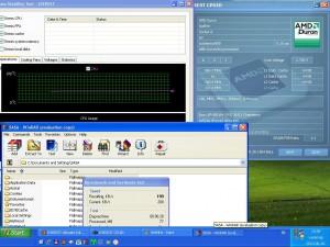 964MHz-en CPU hőmérséklet