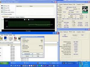 2500MHz-en CPU hőmérséklet