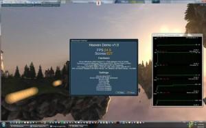 Unigine Heaven 900MHz-es GPU órajelen