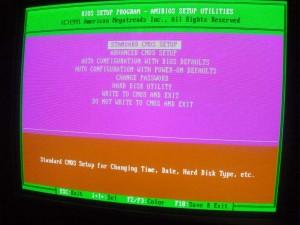 386-os alaplapok BIOS képe