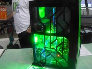 A zölden világító