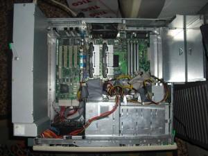 Dell szerver gépháza belülről