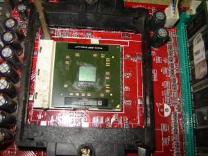 A tesztelt CPU