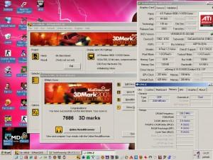 3Dmark2001 250/200-on