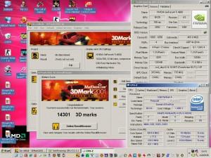 3Dmark2001 a Geforce4 TI4600-al 315/715-ön