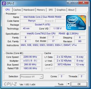 p8400 CPU-Z