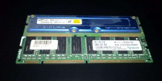 SD RAM a Rambus ellen
