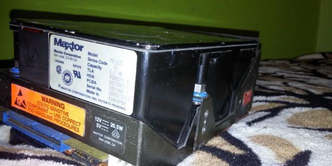 '89-es Maxtor HDD bevetése