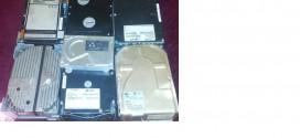 5,25-ös SCSI merevlemezek működés közben