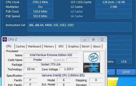 Egy soha meg nem jelent Pentium D Extreme Edition tuning bemutatója